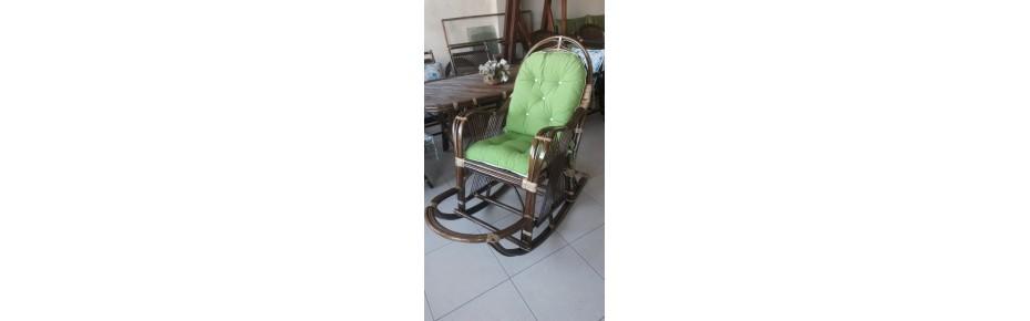 Bambu Sallanır Sandalye